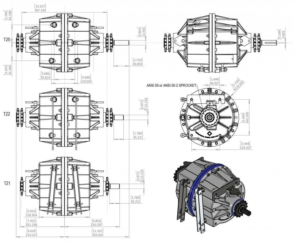 T20 T21 T22 T25 Skid Steer Transmission